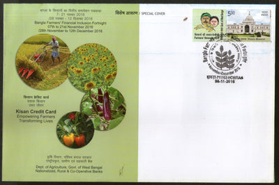 India 2018 KCC Kisan Credit Card Farmer Agriculture My Stamp Special Cover # 19114