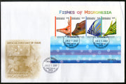 Micronesia 2007 Island Fishes Marine Life Animals Sc 742 Sheetlet FDC # 19118