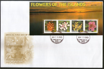Micronesia 2005 Island Flowers Flora Tree Plant Sc 679 Sheetlet FDC # 19122