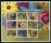Congo Zaire 2001 Flower & Butterfly Papillons Tree Plant Insect Sc 1608 Sheetlet MNH # 19143