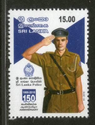 Sri Lanka 2016 Sri Lanka Police 150th Anniversary 1v MNH # 192 - Phil India Stamps