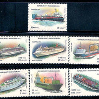 Malagasy 1993 Modern Ships Transport 7v MNH Madagascar # 194 - Phil India Stamps