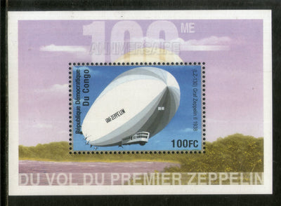 Congo Zaire 2001 First Graf Zeppelin Aviation Transport Sc 1589 M/s MNH # 1997