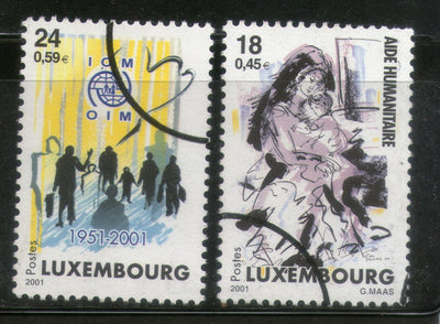 Luxembourg 2001 Humanitarian Aid Organization Migration SPECIMEN Sc 1058-9 MNH # 19 - Phil India Stamps