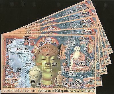 India 2007 Mahaparinirvan of the Buddha Phila-2272 M/s X5 MNH Wholesale offer
