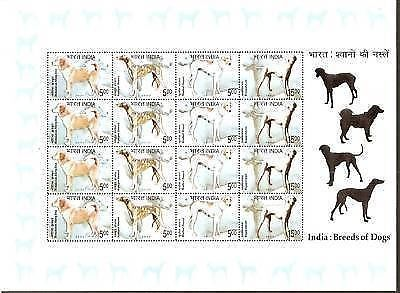 India 2005 Breeds of Dogs Pet Animal Phila-SL52 Sheetlet MNH