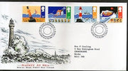 Great Britain 1985 Safety at Sea Lighthouse Satelite Lifeboat Yatch 4v FDC #F124