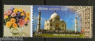 India 2011 INDIPEX Taj Mahal My Stamp Customized MNH Architecture # 6386A