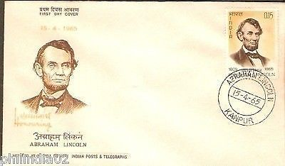 India 1965 Abraham Lincoln Phila-415 FDC