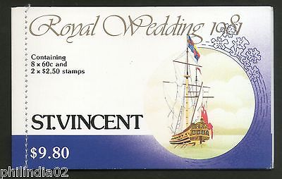 St. Vincent 1981 Princess Diana & Charles Royal Wedding $9.80 Booklet MNH # 3560