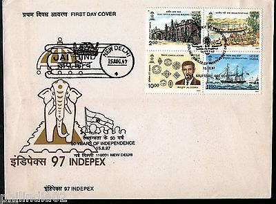 India 1997 INDEPEX 97 Jal Cooper Post Office Theme Se-Tenant Phila-1593 FDC