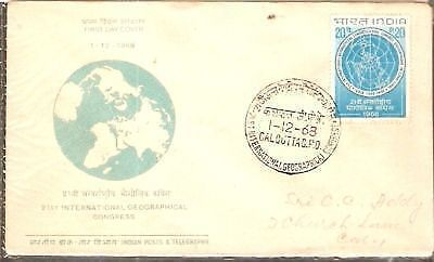 India 1968 Geographical Congress Phila-473 FDC