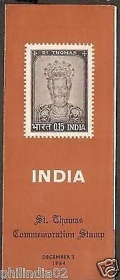 India 1964 St Thomas Christianity Phila-409 Cancelled Folder