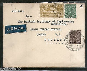 India 1934 KG V Air Mail Stamp on Cover Camp P.O to England # 1451-30