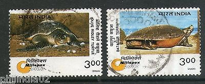 India 2000 Endangered Species - Turtles 2v Phila-1743a Used Set