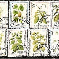 St. Thomas & Prince Is 1983 Medicinal Plant Tree 8v Cancelled