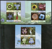 India 2013 Wild Flowers of India Tree Plant Flora M/s Set of 3 MNH