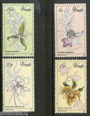 Venda 1981 Orchids Flower Trees Plants Flora Sc 48-51 MNH # 4054