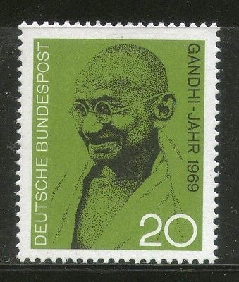 Germany 1969 Mahatma Gandhi of India Birth Centenary MNH # 2920