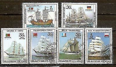 Korea 1987 Sailing Ship Flag Transport 6v Cancelled # 6148a