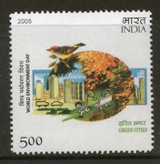 India 2005 World Environment Day Green Cities Phila-2129 MNH