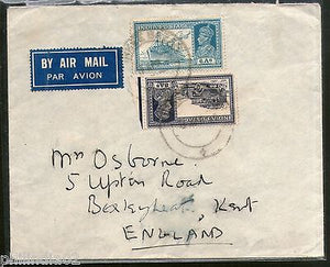 India 1940 KG VI Transport Multi Stamped Cover Kirkee Bazar to England # 1452-12