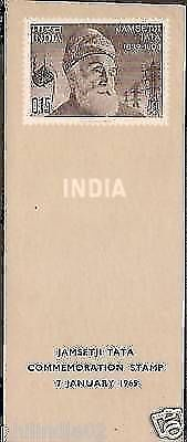 India 1965 Jamsetji Tata Phila-411 Cancelled Folder