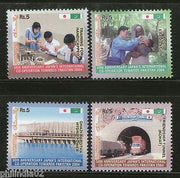 Pakistan 2004 Japan Co-Operation Towards Polio Handicap Tunnel Hydro Power Sc 1046-9 MNH # 2943