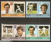 Tuvalu - Nanumea 1985 Famous Cricket Players Sports 8v MNH # 3262