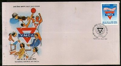India 1992 National Council of YMCA Sc 1402 Emblem 1v FDC # F1324
