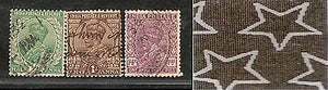 India 3 Diff KG V ½A 1A & 1A3p ERROR WMK - Multi Star Inverted Used as Scan 4020