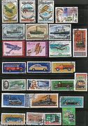 Russia USSR 25 Diff. Transport Series Steam Locomotive Ship Car Aeroplane Used Stamps # 5231