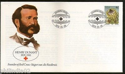 South Africa 1978 Henery Dunant Red Cross Founder Health Special Cover # 16204