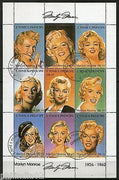 St. Thomas & Prince 1994 Marilyn Monroe Film Actress Cinema Sc 1167a-i Sheet Cancelled #9090