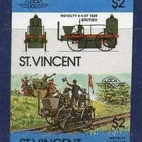 St. Vincent 1984 Novelity British Locomotive Transport Sc 753 Imperf Pair MNH