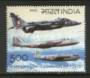 India 2005 Squadron Air Force Aviation Transport Phila-2160 MNH