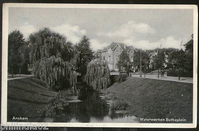 Netherlands 1933 Arnhem Waterworks Bothaplein View Picture Post Card # 134