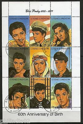 St. Thomas & Prince 1994 Elvis Presley Film Actress Cinema Sc 1166a-i Sheet Cancelled # 9188