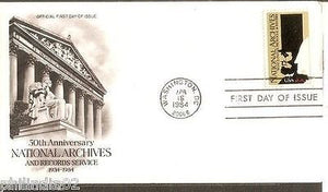 USA 1984 Abraham Lincoln George Washington Nation Cover