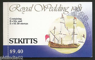 St. Kitts 1981 Princess Diana & Charles Royal Wedding $9.40 Booklet MNH # 3548