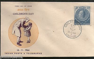 India 1964 Children's Day Jawaharlal Nehru Phila-408 FDC