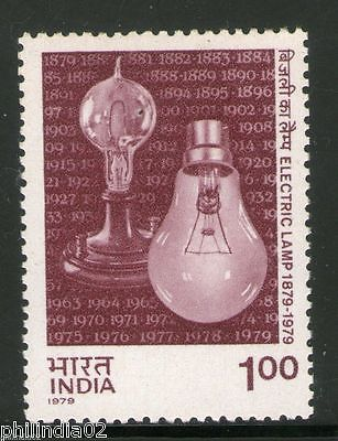 India 1979 Centenary of  Electric Lamp 1v Phila - 796 MNH