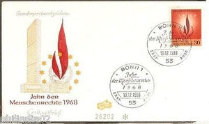 Germany 1968 Human Rights Year Flame Emblem Sc 992Cover