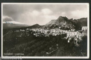 Italy 1931 Taormina Panorama Mountain View / Picture Post Card Used # PC240