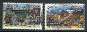 India 1999 Tabo Monastery in Lahul & Spiti Wall Painting 2v Phila-1731a Used Set