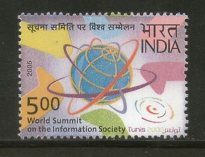 India 2005 UN World Summit Information Society Phila-2152 MNH