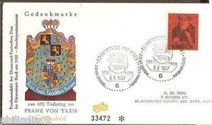 Germany 1967 Franz Von Taxis Founders of Postal Cover