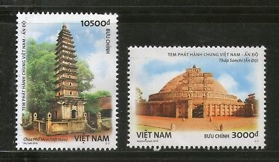 Vietnam 2018 India Joints Issue Ancient Arch Sanchi Stupa PhoMinh Pagoda MNH 399