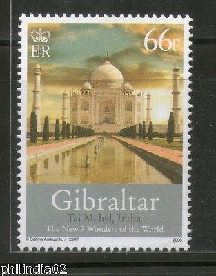 Gibraltar 2008 Taj Mahal New Seven Wonders of the World 1v MNH # 1450