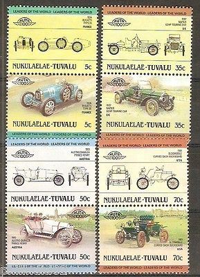 Tuvalu - Nukulealea 1985 Cars Automobile Transport 8v MNH # 2748